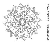 flower mandala coloring book.... | Shutterstock .eps vector #1922197913