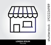 storefront icon in trendy style ...
