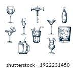 bundle of ten drinks set icons...   Shutterstock .eps vector #1922231450