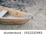 Part Of A Wooden Boat Rowboat...