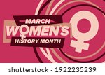women's history month.... | Shutterstock .eps vector #1922235239