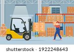 warehouse interior with...   Shutterstock .eps vector #1922248643