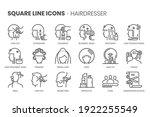 hair dresser  square line icon... | Shutterstock .eps vector #1922255549