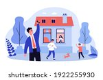 happy family having fun in new...   Shutterstock .eps vector #1922255930