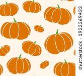 pumpkin seamless texture in... | Shutterstock .eps vector #1922269433