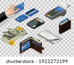financial objects money  wallet ... | Shutterstock .eps vector #1922272199