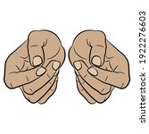two human hands clenched in...   Shutterstock .eps vector #1922276603