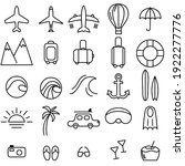 travel icons. eps 8 format....   Shutterstock .eps vector #1922277776