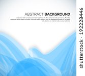 abstract 3d blue wavy background | Shutterstock . vector #192228446