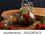 Glass Teapot. Still Life With...