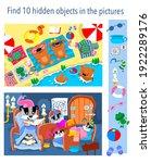 find 10 hidden objects in the...   Shutterstock .eps vector #1922289176
