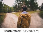 confused man chooses road... | Shutterstock . vector #192230474