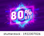 cyber 80 off sale banner  light ...   Shutterstock .eps vector #1922307026