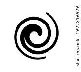 flat design vector spiral wave... | Shutterstock .eps vector #1922316929