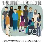 multi ethnic group of people.... | Shutterstock .eps vector #1922317370