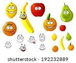 lemon  apple  orange  banana ... | Shutterstock . vector #192232889