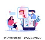 online ent doctor consultate... | Shutterstock .eps vector #1922329820