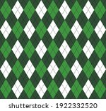st. patricks day argyle plaid....   Shutterstock .eps vector #1922332520