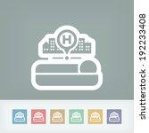hospital icon   Shutterstock .eps vector #192233408