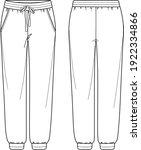 vector unisex jogger fashion... | Shutterstock .eps vector #1922334866