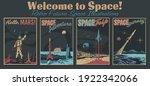 retro futurism space... | Shutterstock .eps vector #1922342066