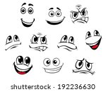 cartoon faces set with... | Shutterstock . vector #192236630