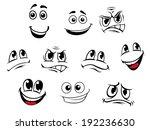 cartoon faces set with... | Shutterstock . vector #192236630