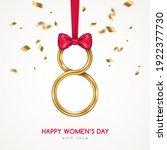 march 8 symbol  glittering... | Shutterstock .eps vector #1922377730