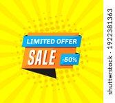 promotional sale banner...   Shutterstock .eps vector #1922381363