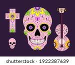 vector dia de los muertos  day... | Shutterstock .eps vector #1922387639