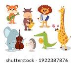 collection of cute cartoon... | Shutterstock .eps vector #1922387876