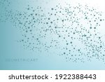 structure molecule and... | Shutterstock .eps vector #1922388443