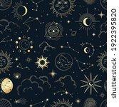 vector magic seamless pattern... | Shutterstock .eps vector #1922395820