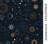 vector magic seamless pattern... | Shutterstock .eps vector #1922395829