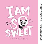 i am so sweet text and cute... | Shutterstock .eps vector #1922396819