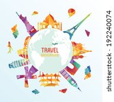 travel and tourism background   Shutterstock .eps vector #192240074