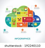 cloud computing infographic... | Shutterstock .eps vector #192240110