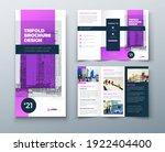 tri fold purple brochure design ...   Shutterstock .eps vector #1922404400