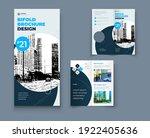 bi fold brochure or flyer... | Shutterstock .eps vector #1922405636
