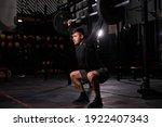 fitness man doing aweight... | Shutterstock . vector #1922407343