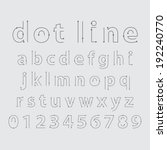alphabetic fonts and numbers   Shutterstock .eps vector #192240770
