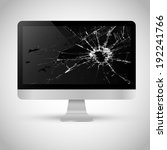 broken screen of a computer | Shutterstock .eps vector #192241766