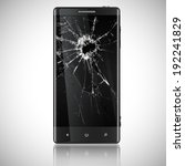 broken mobile phone  vector | Shutterstock .eps vector #192241829