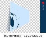 samoa map and flag on... | Shutterstock .eps vector #1922423303