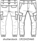 men boys cargo pocket pant...   Shutterstock .eps vector #1922425460