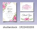 wedding invitation set with... | Shutterstock .eps vector #1922433203