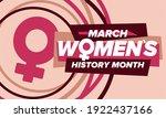 women's history month.... | Shutterstock .eps vector #1922437166