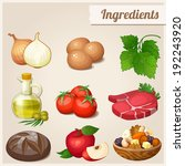 set of food icons. ingredients. ... | Shutterstock .eps vector #192243920