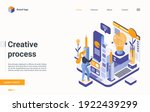 creative work process concept... | Shutterstock .eps vector #1922439299