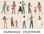 tourist people on sightseeing...   Shutterstock .eps vector #1922444186